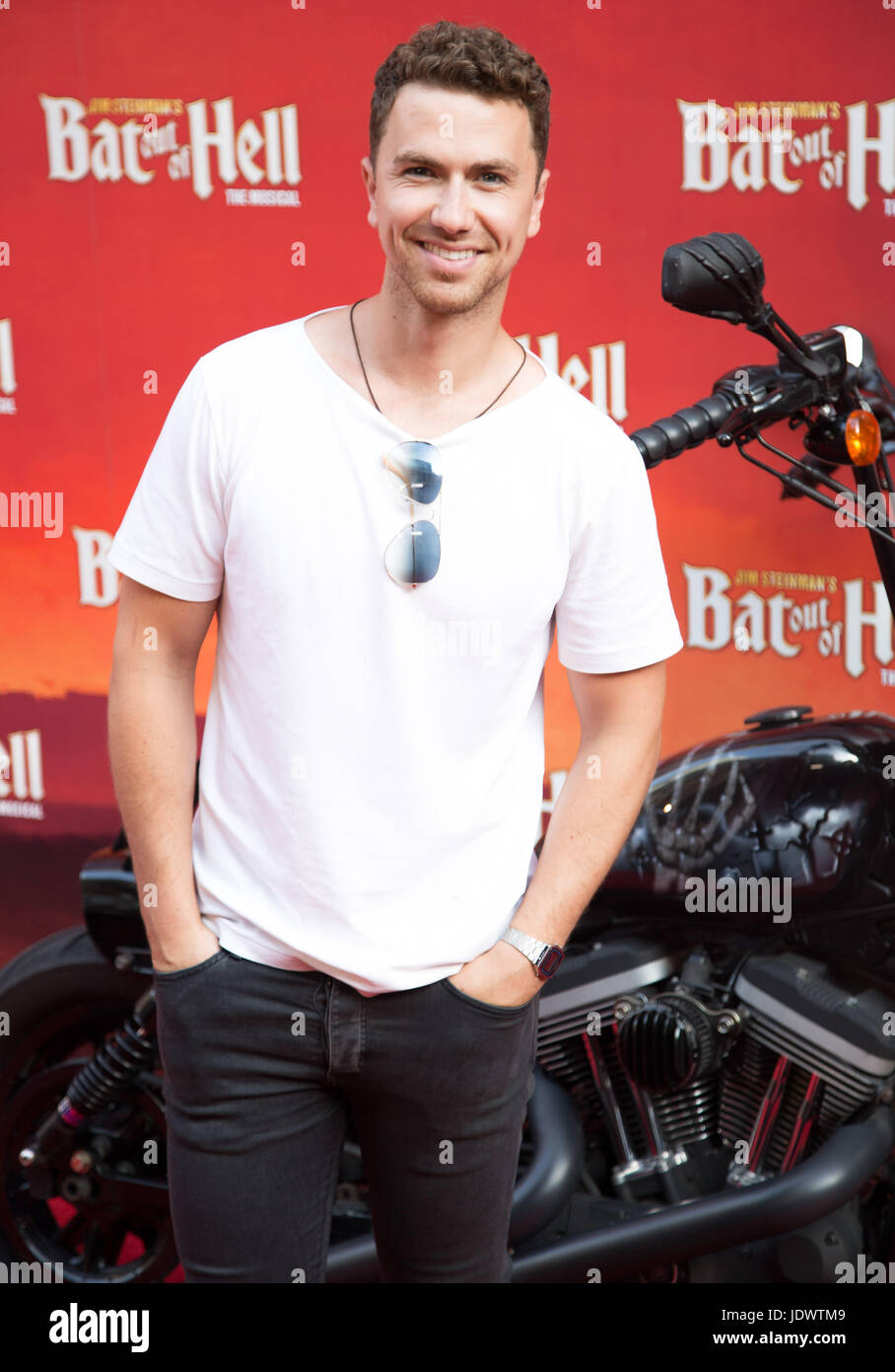 Richard Fleeshman at Bat Out of Hell - The Musical, Press Night at the London Coliseum - 20 June 2017 - Stock Image