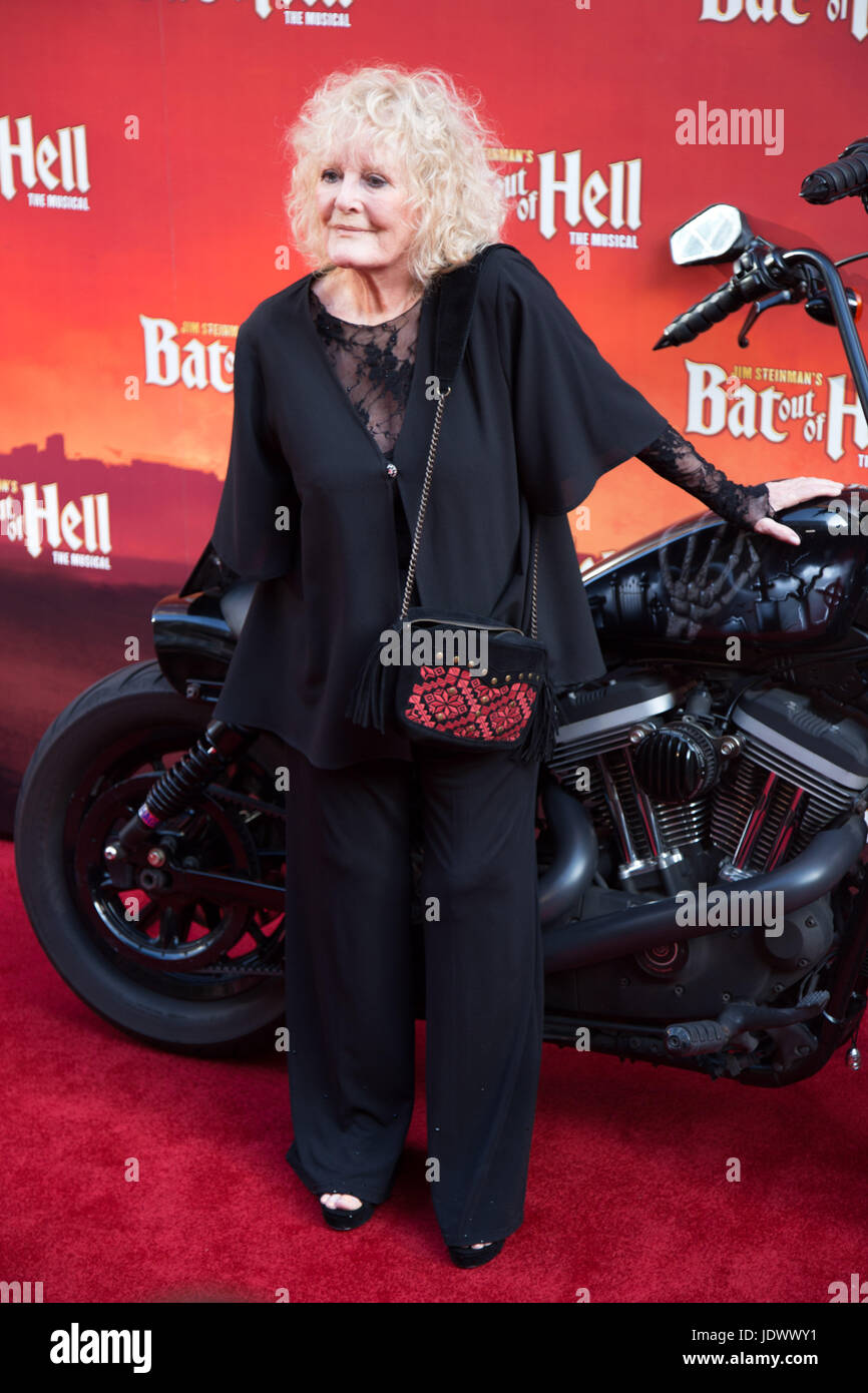 Petula Clark at Bat Out of Hell - The Musical, Press Night at the London Coliseum - 20 June 2017 - Stock Image