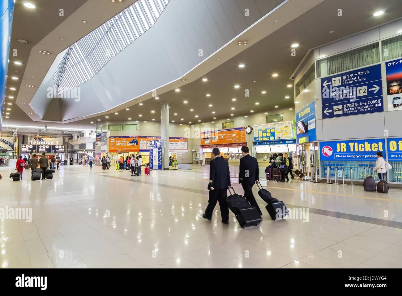 Kansai Airport Station in Osaka, Japan - Stock Image