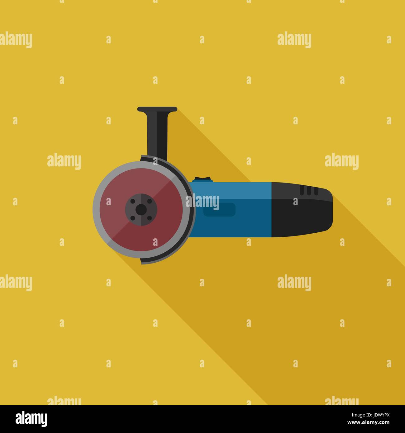 Angle grinder flat icon - Stock Vector