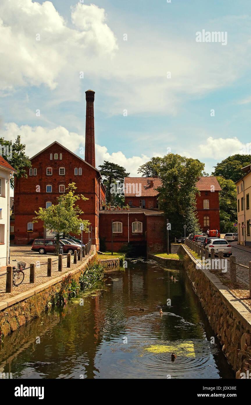 Alte Stadtmühle Hansestadt Wismar Deutschland / Old Mill Hanseatic City Wismar Germany - Stock Image