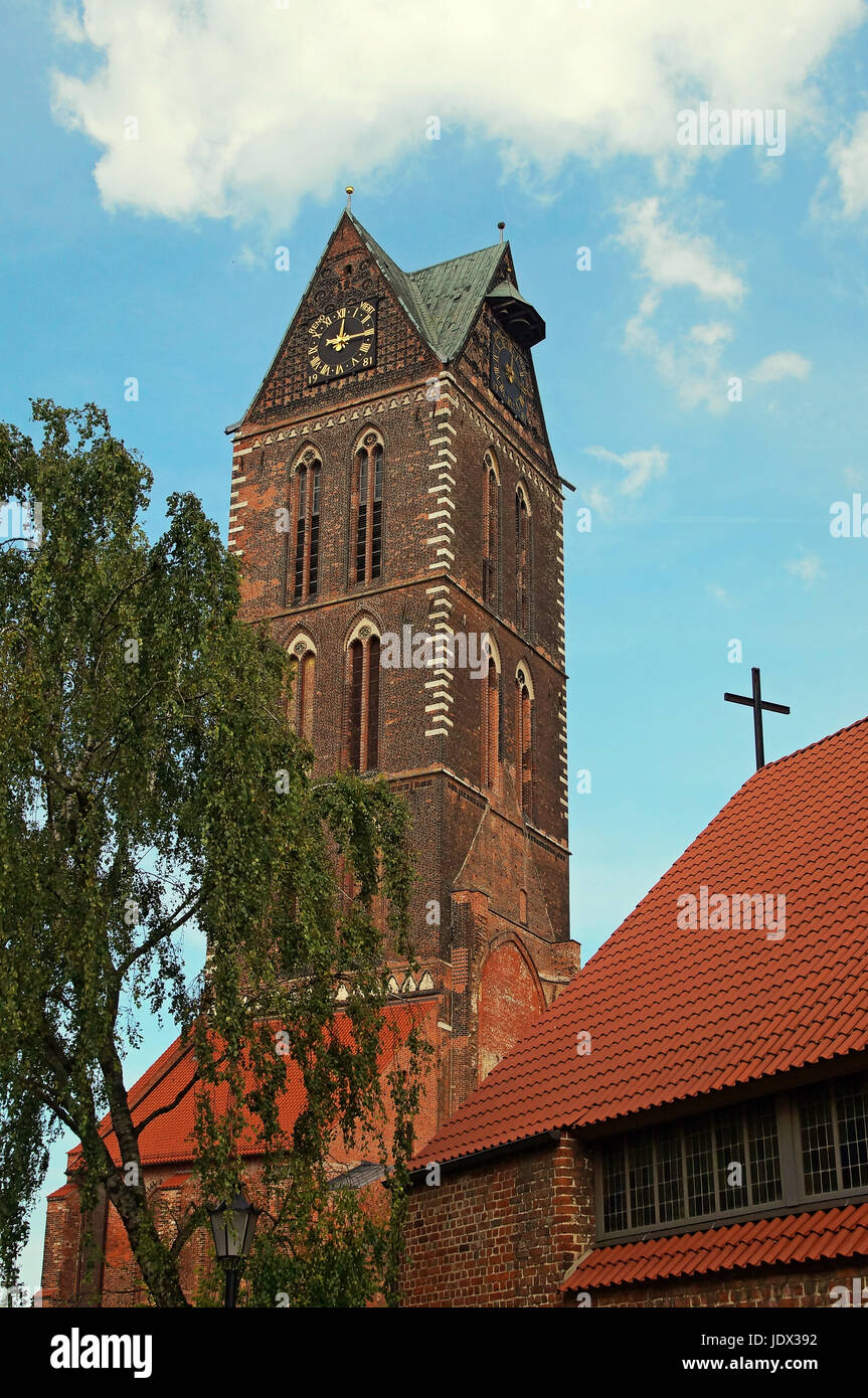 Marienkirche Wismar Deutschland / Church of St. Mary Wismar Germany - Stock Image