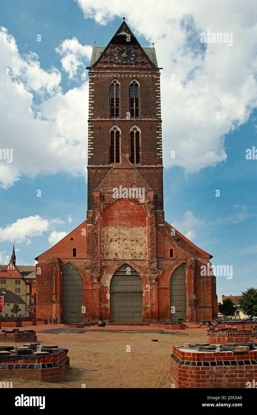 Marienkirche Wismar Deutschland / Church of St. Mary Wismar Germany Stock Photo