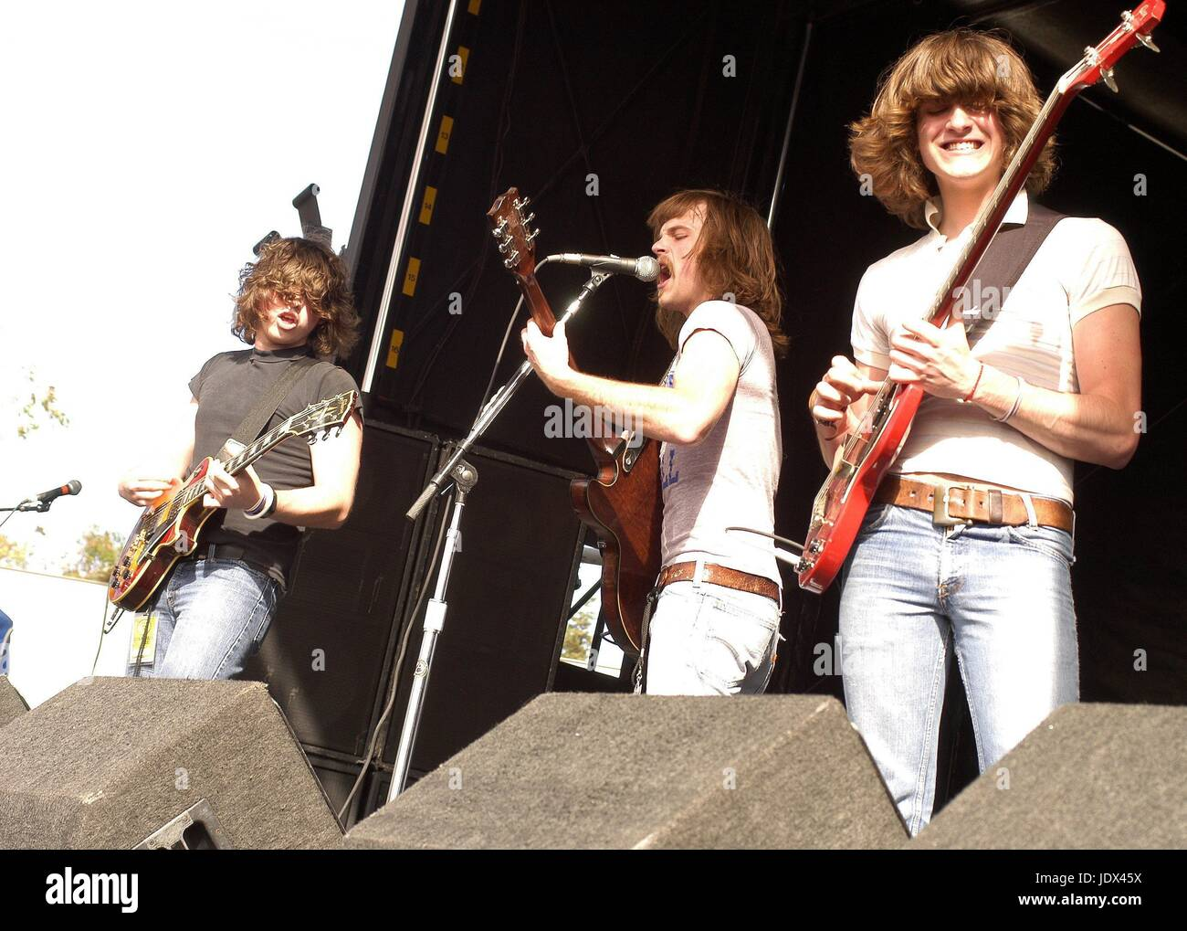 Kings of Leon performing at Lollapalooza, Mountain View, CA.  August 19, 2003  © Anthony Pidgeon / MediaPunch. - Stock Image