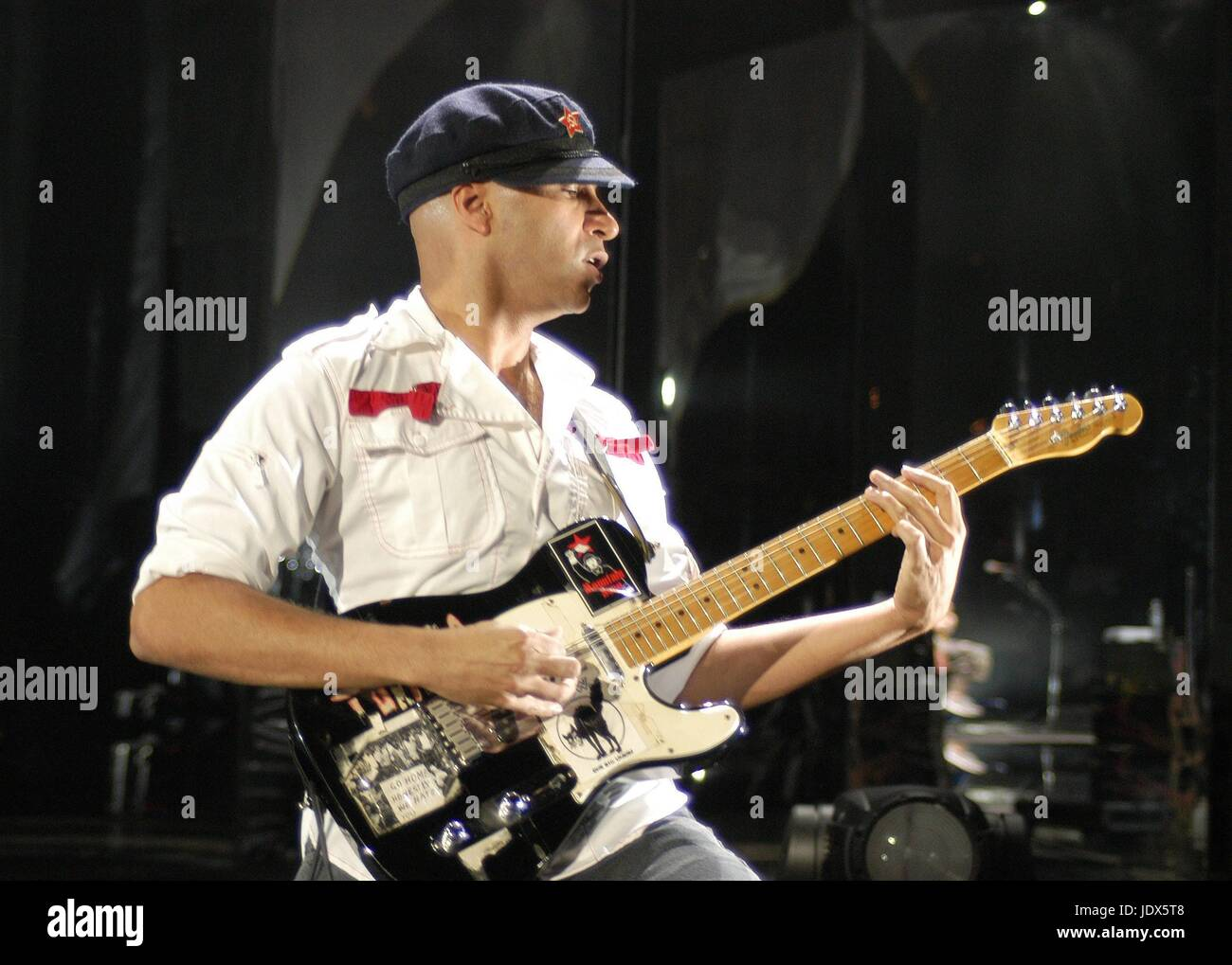 Audioslave performing at Lollapalooza.  Shoreline Amphitheater, Mountain View, CA.   August 19, 2003.   © Anthony - Stock Image