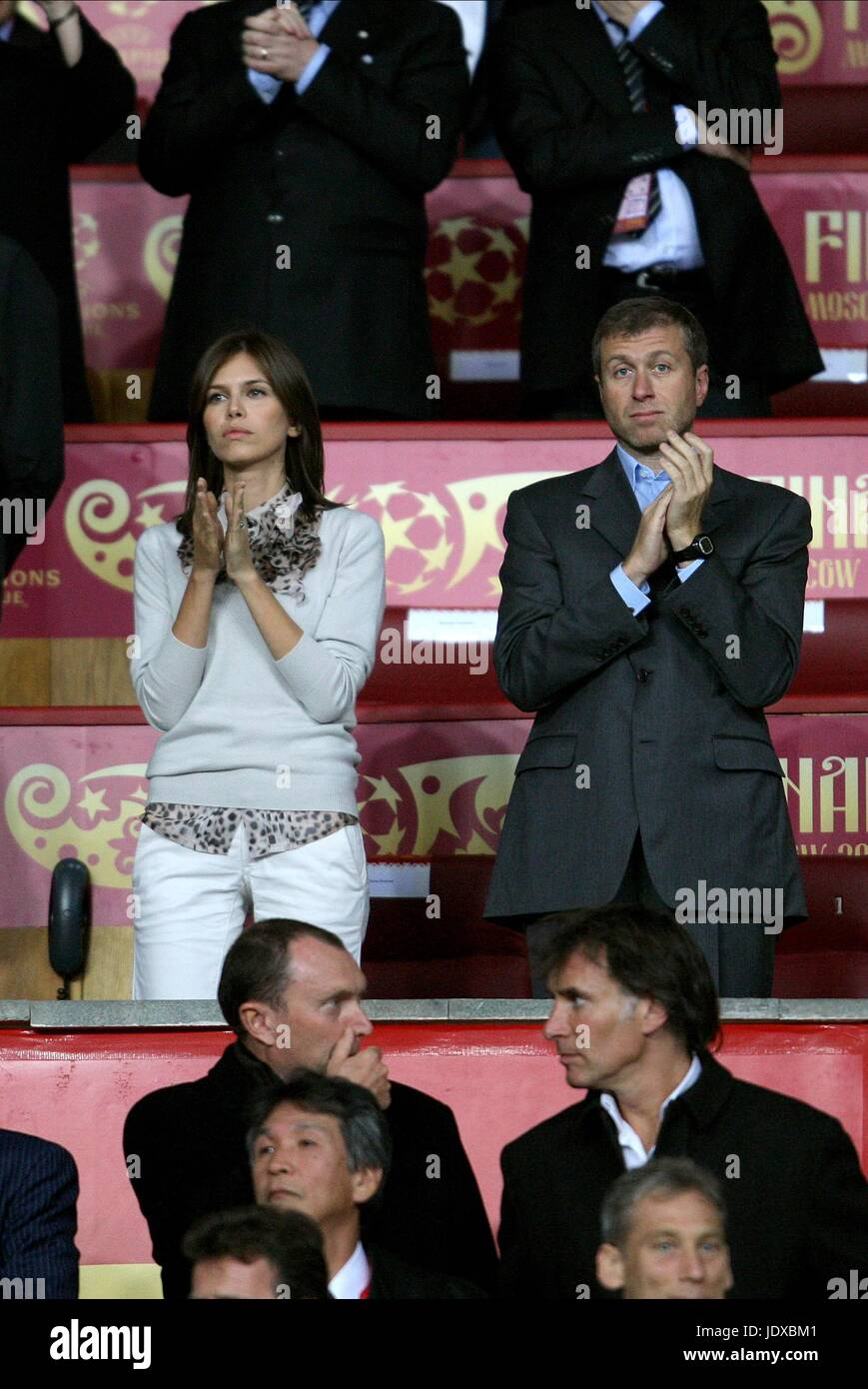 ed2bf58db78c5 ROMAN ABRAMOVICH   GIRLFRIEND MANCHESTER UNITED V CHELSEA LUZHNIKI STADIUM  MOSCOW RUSSIAN FEDERATION 21 May 2008