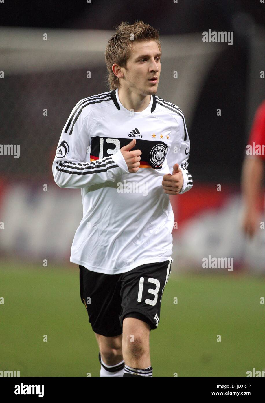 MARKO MARIN GERMANY & MONCHENGLADBACH OLYMPIC STADIUM BERLIN GERMANY 19 November 2008 - Stock Image