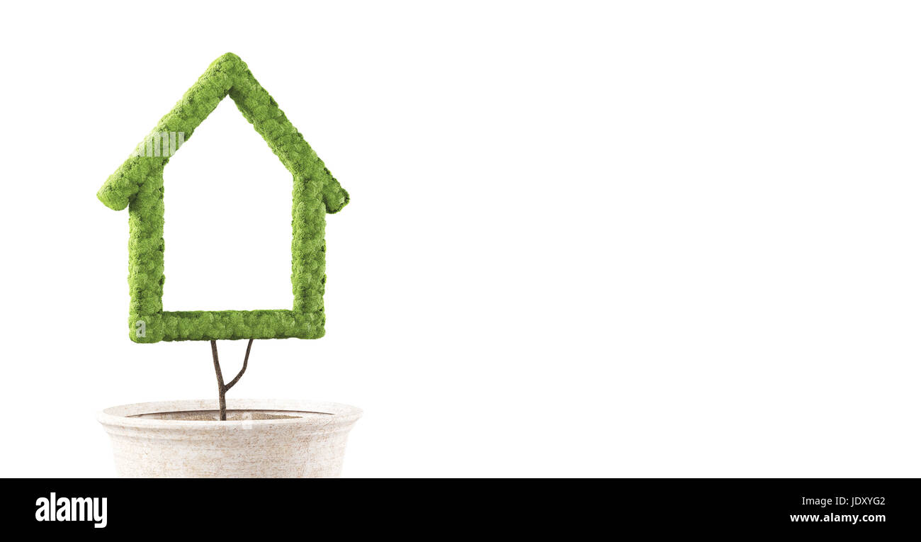 Green house, ecological house - Stock Image