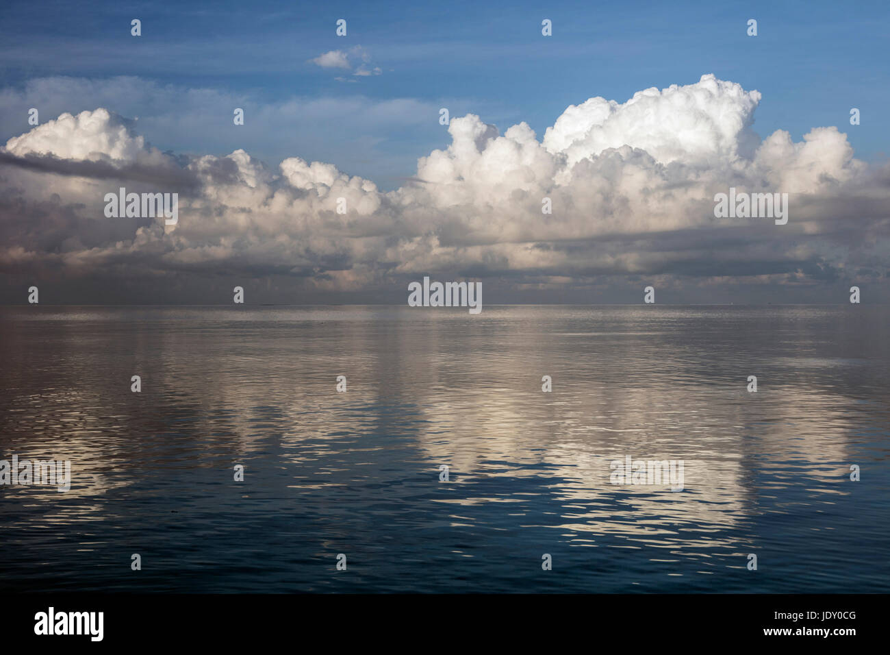 Clouds over Ocean, Wakatobi, Celebes, Indonesia - Stock Image