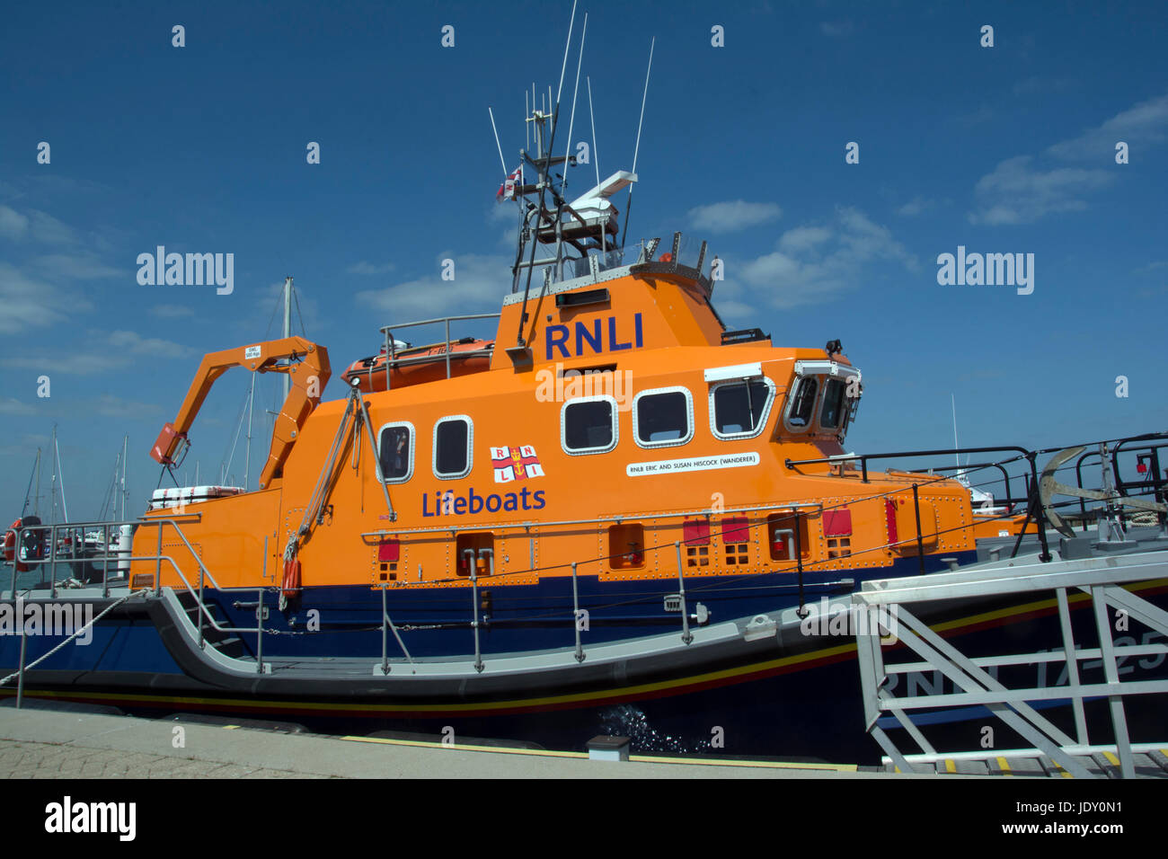 ISLE OF WIGHT; YARMOUTH; THE YARMOUTH LIFEBOAT Stock Photo