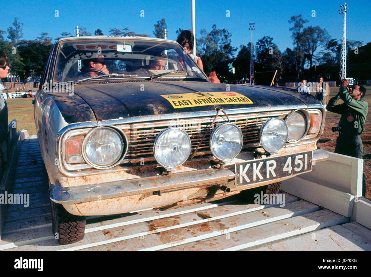 Ford Cortina on 1967 East African Safari - Stock Image