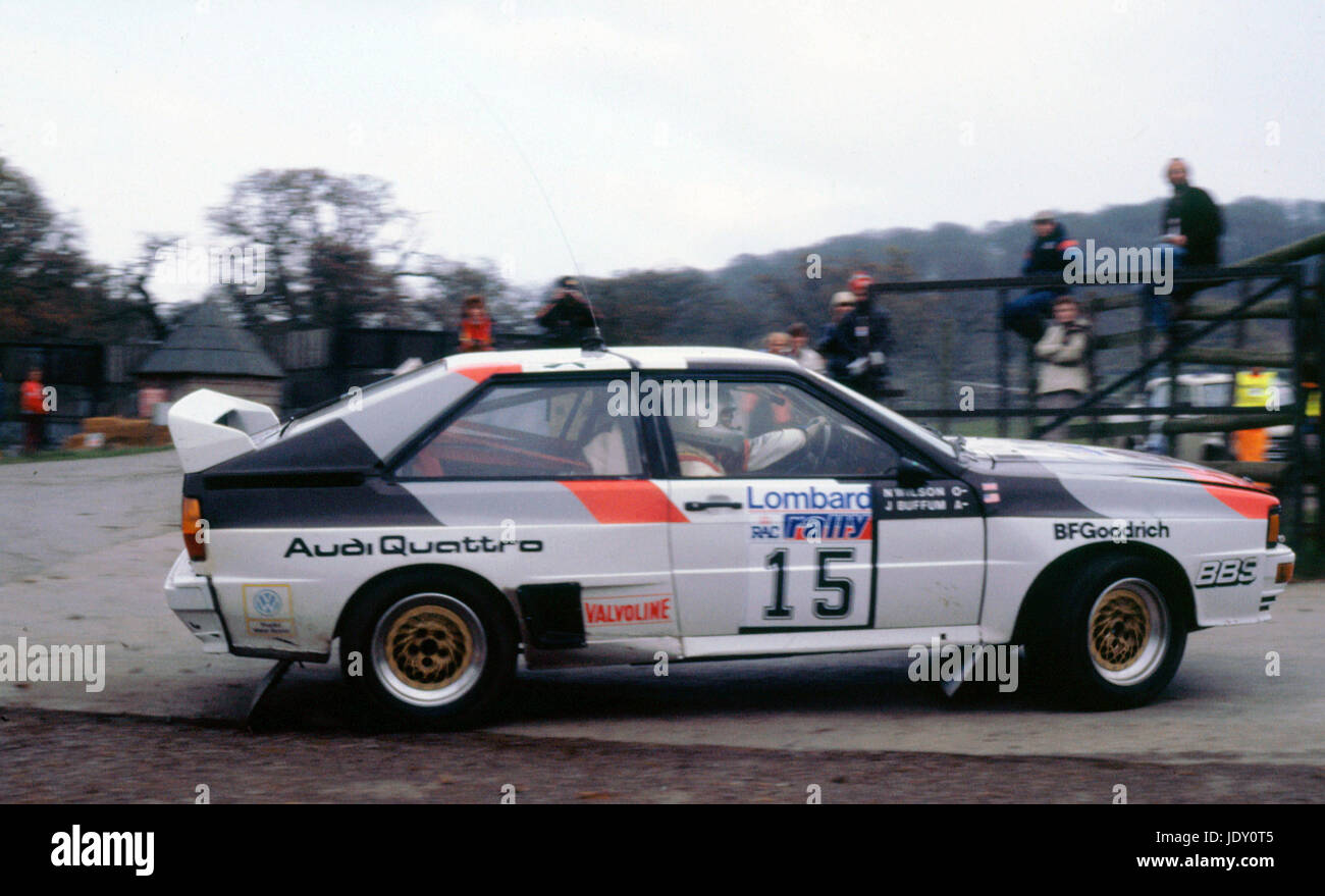 Audi Quattro, N.Wilson. 1983 RAC Rally - Stock Image