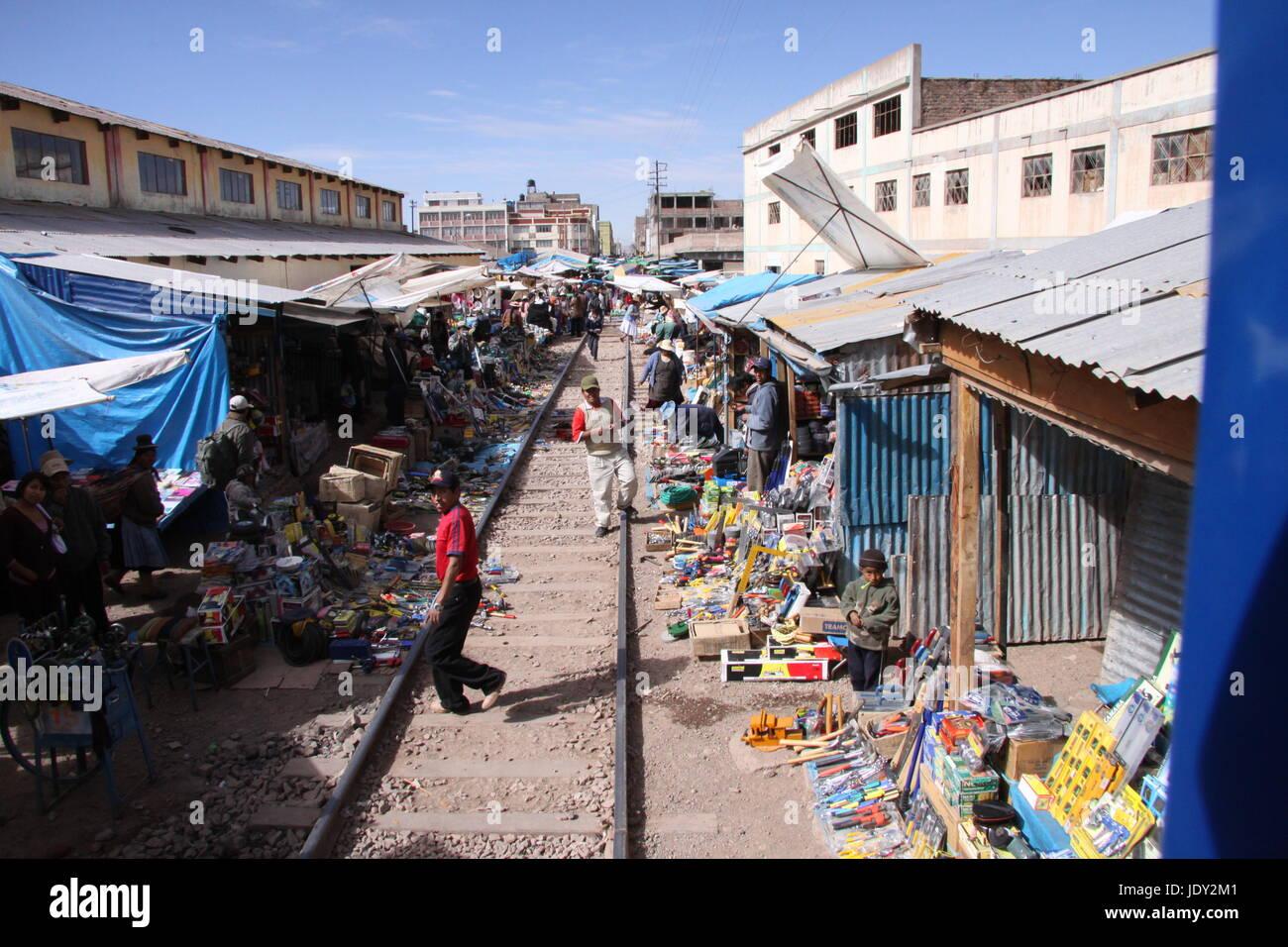 Peruvian Railway Journey - Stock Image