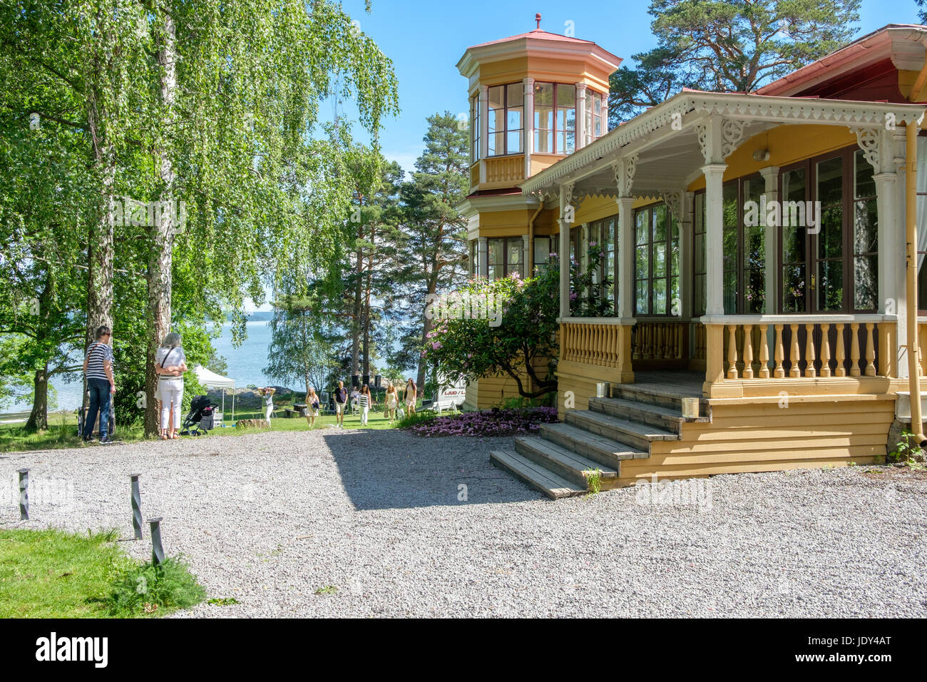 Abborreberg recreational area in Norrkoping. Norrkoping is a historic industrial town in Sweden. Stock Photo