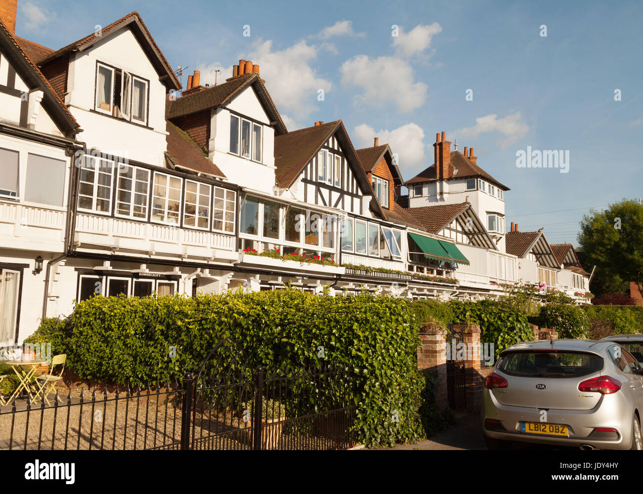 Gaiety Row - a row of terraced houses in Taplow, Buckinghamshire England UK - Stock Image