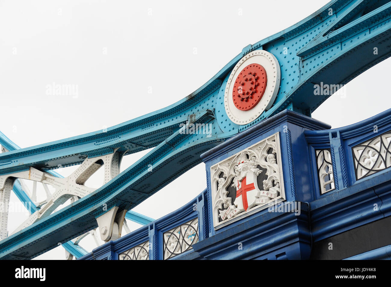 steel parts of the tower bridge in london Stock Photo