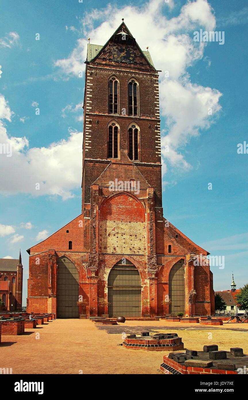 Marienkirche Wismar Deutschland / Church of St. Mary Wismar Germany - Stock Image