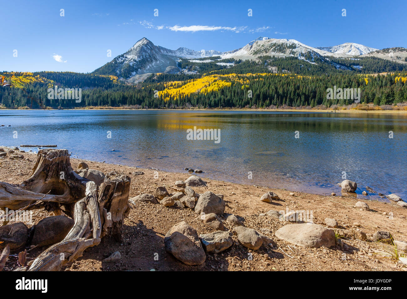 Lost Lake along the Kebler Pass in the Gunnison National Forest, Colorado Stock Photo