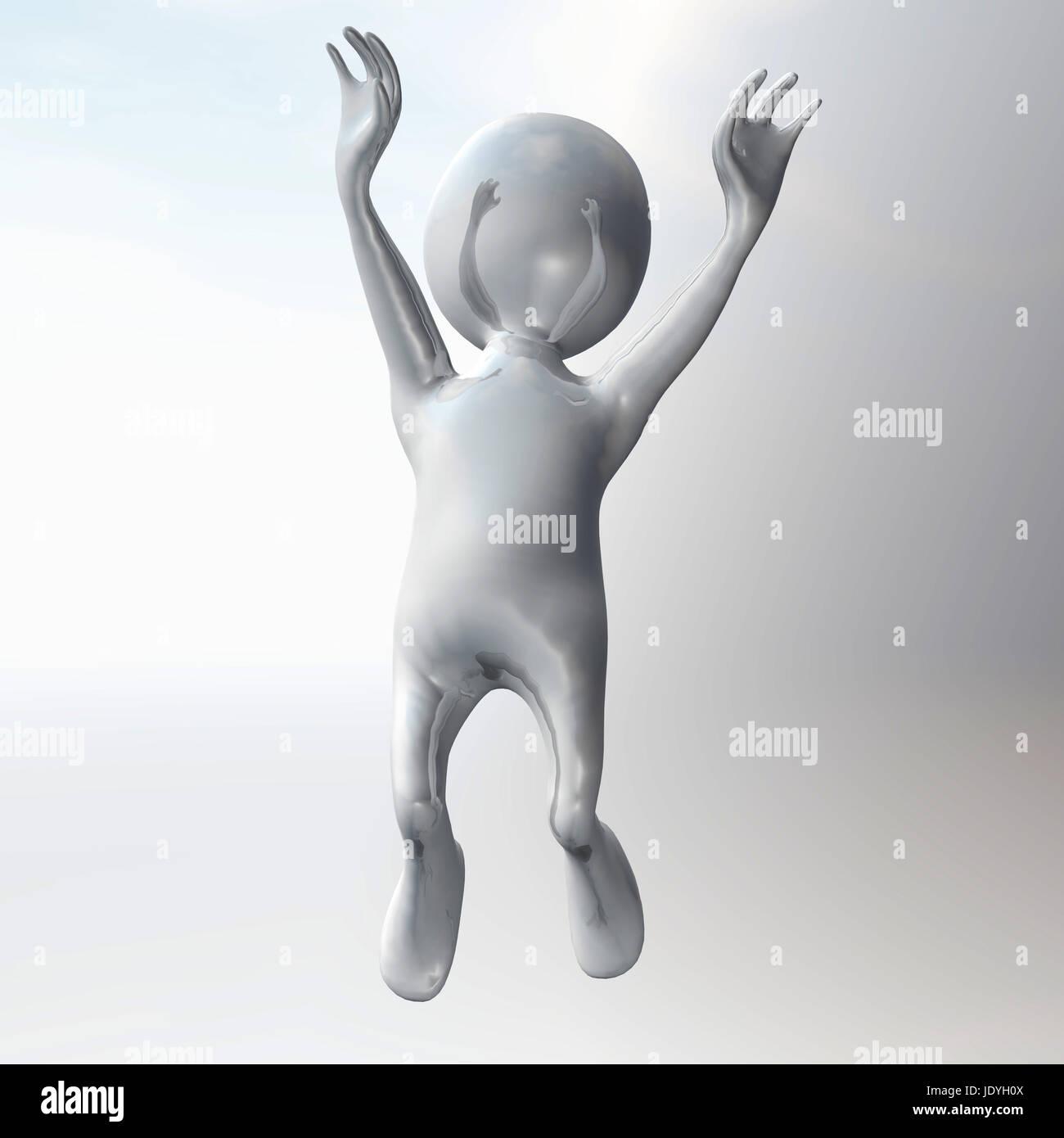 Digital Illustration of a Stickman Stock Photo