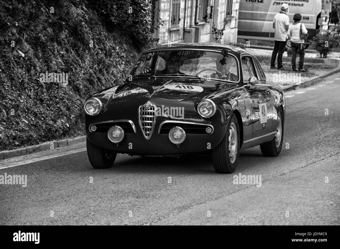 ALFA ROMEO GIULIETTA SPRINT VELOCE 1956 on an old racing car in ...