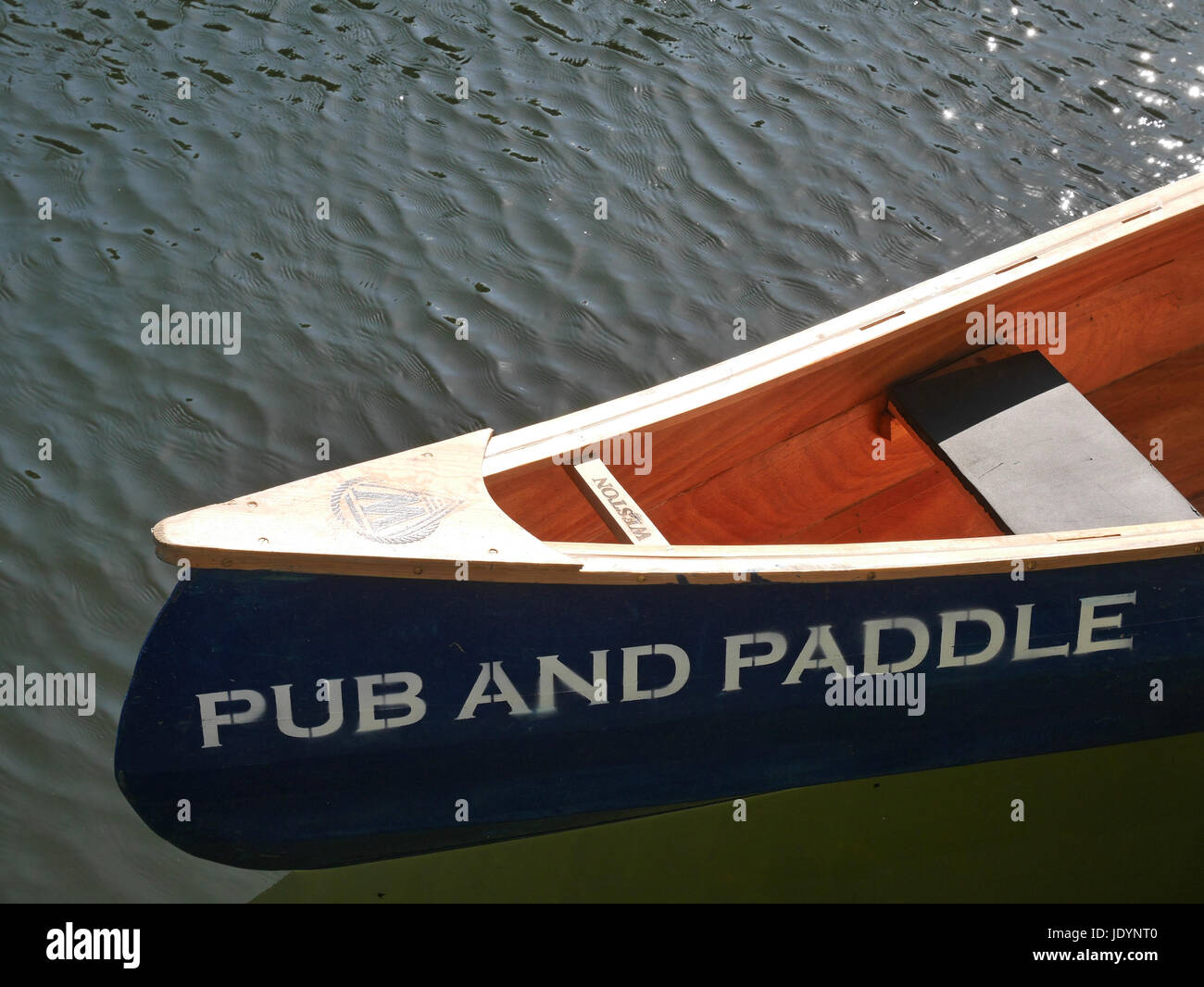 Detail Of Wooden Canoe Available Of Hire Moored On The Norfolk
