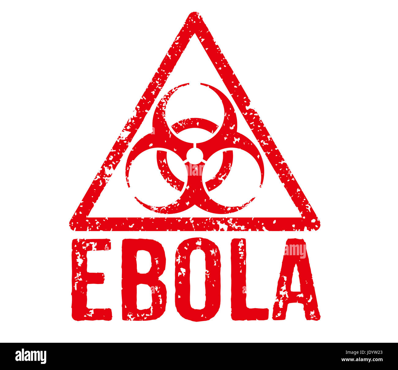 Roter Stempel - Ebola Stock Photo