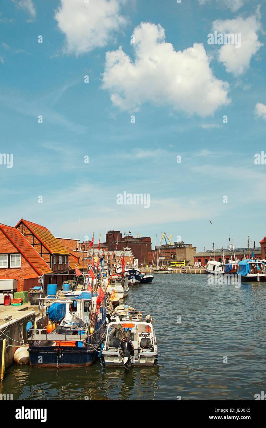 Hansestadt Wismar Deutschland / Hanseatic City Wismar Germany - Stock Image