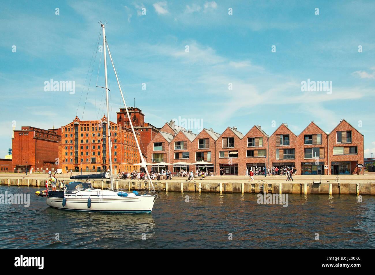Hafen Hansestadt Wismar Deutschland / Port Hanseatic City Wismar Germany Stock Photo