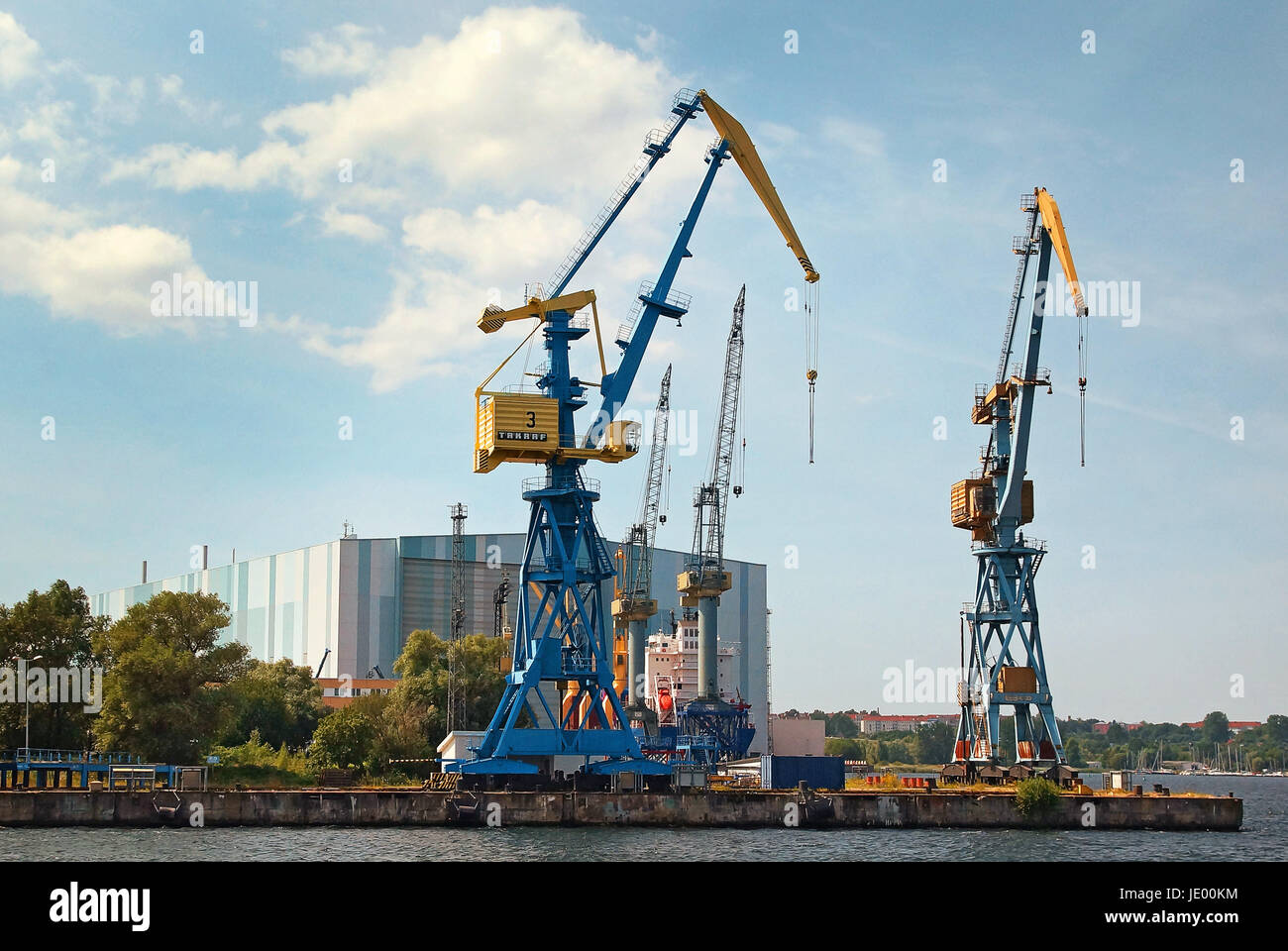 Hafen Hansestadt Wismar Deutschland / Port Hanseatic City Wismar Germany - Stock Image