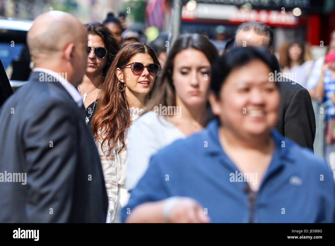 New York, USA. 22nd Jun, 2017. The actress Marisa Tomei is seen arriving at a television program in New York on - Stock Image
