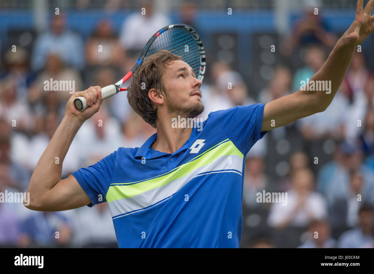 The Queen's Club, London, UK. 22nd June 2017. Day 4 of the 2017 Aegon Tennis Championships in west London, Daniil - Stock Image