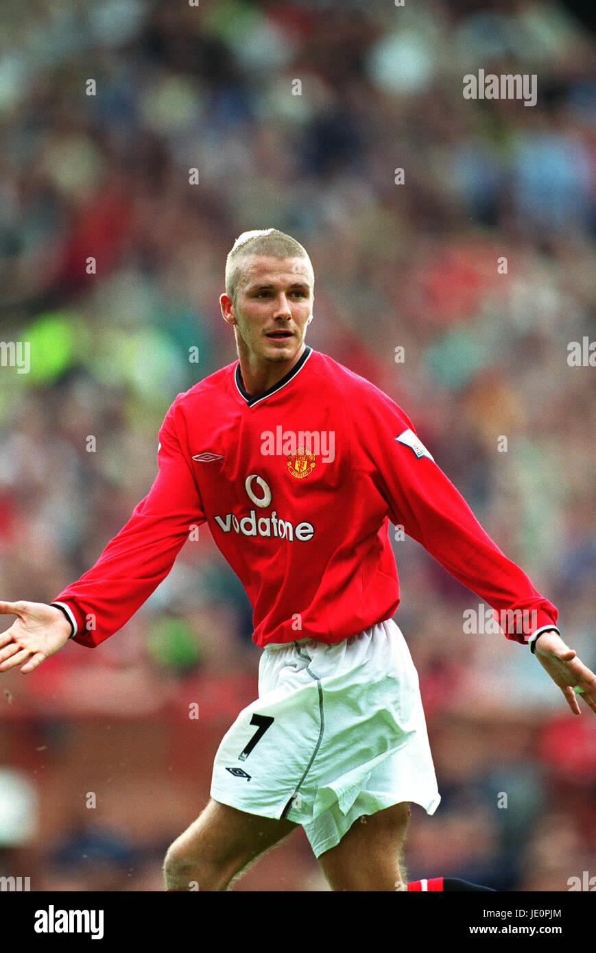 David Beckham Manchester United Fc Manchester Old Trafford 23 Stock
