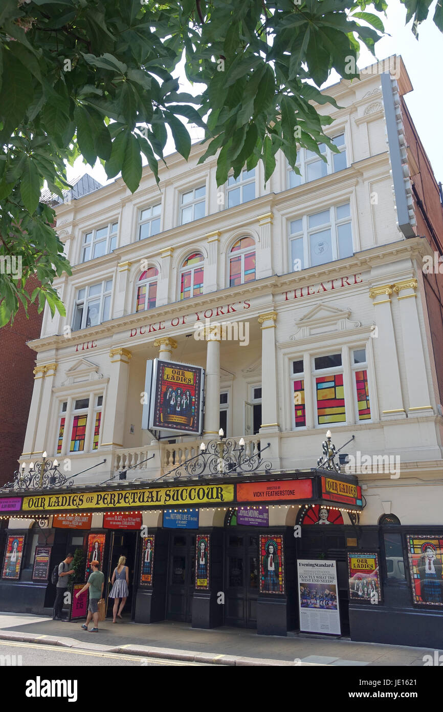 Front view of the Duke of York's Theatre in London UK - Stock Image