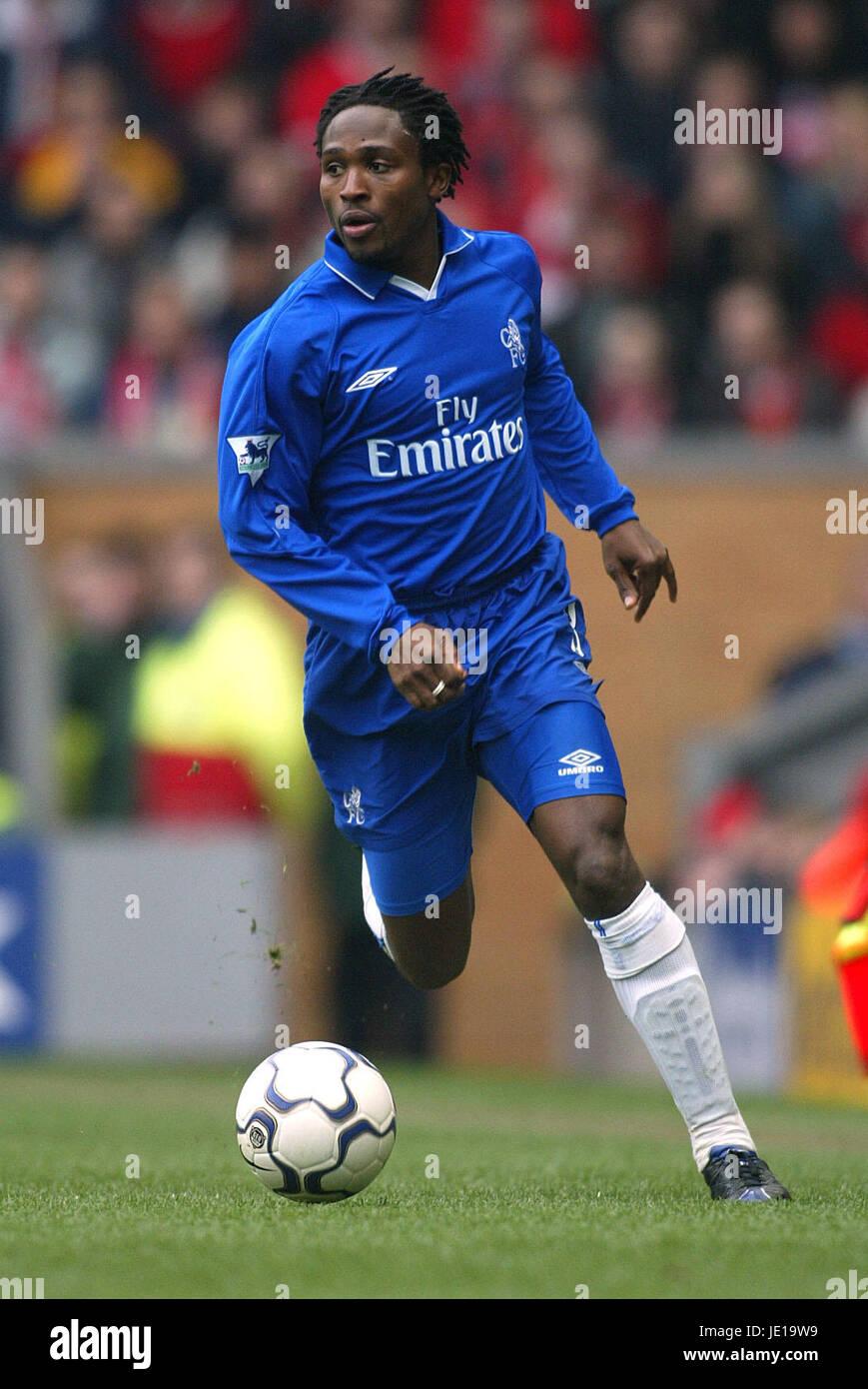 CELESTINE BABAYARO CHELSEA FC ANFIELD LIVERPOOL 24 March 2002 - Stock Image