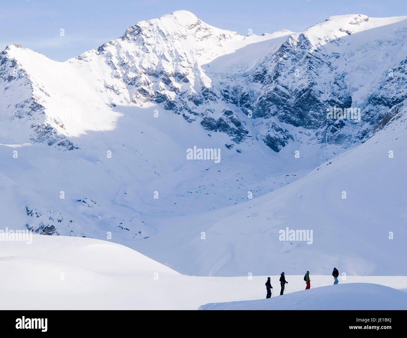 In the mountains, La Rosiere, France - Stock Image