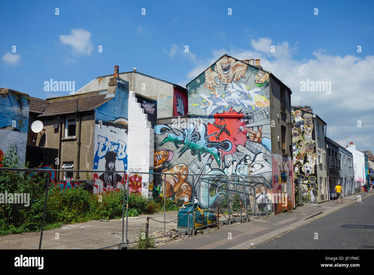 Graffiti Street Art in Brighton - Stock Image