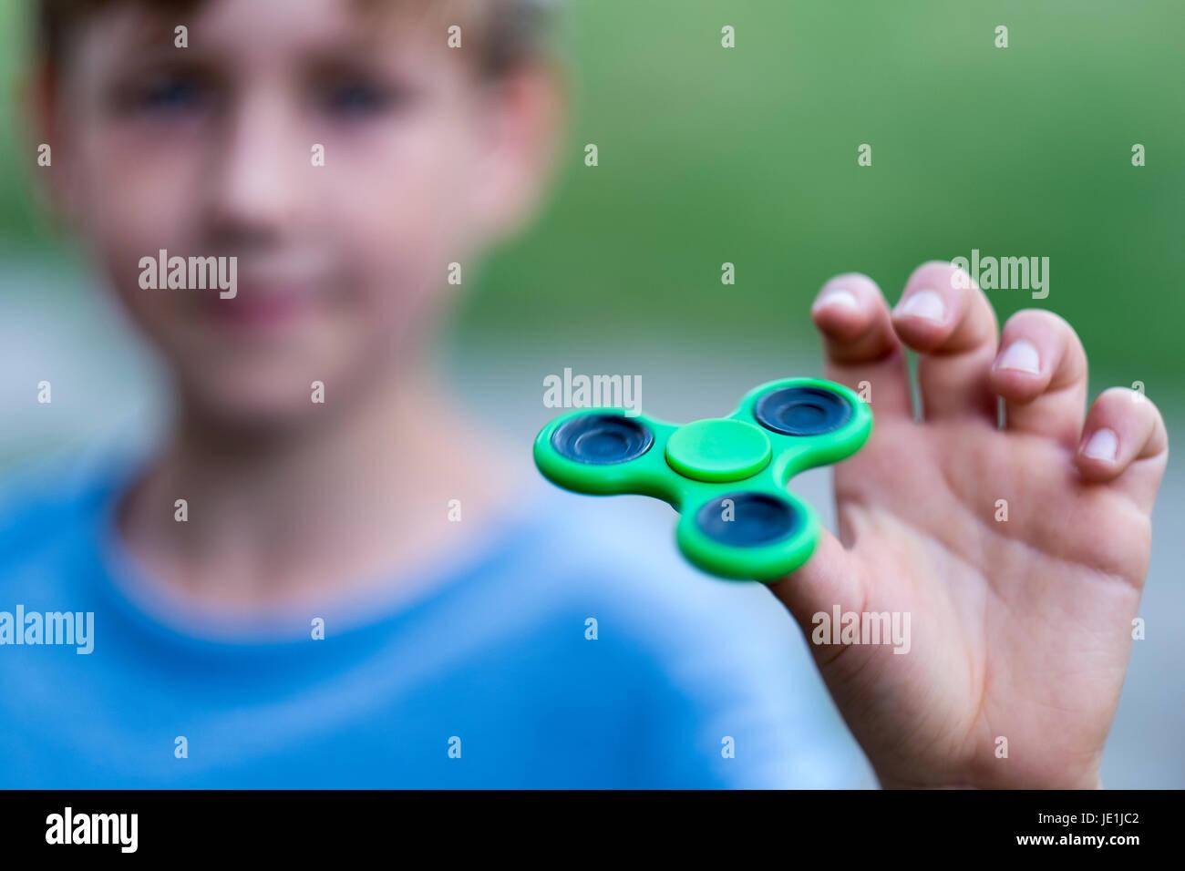 Fidget spinner - Stock Image