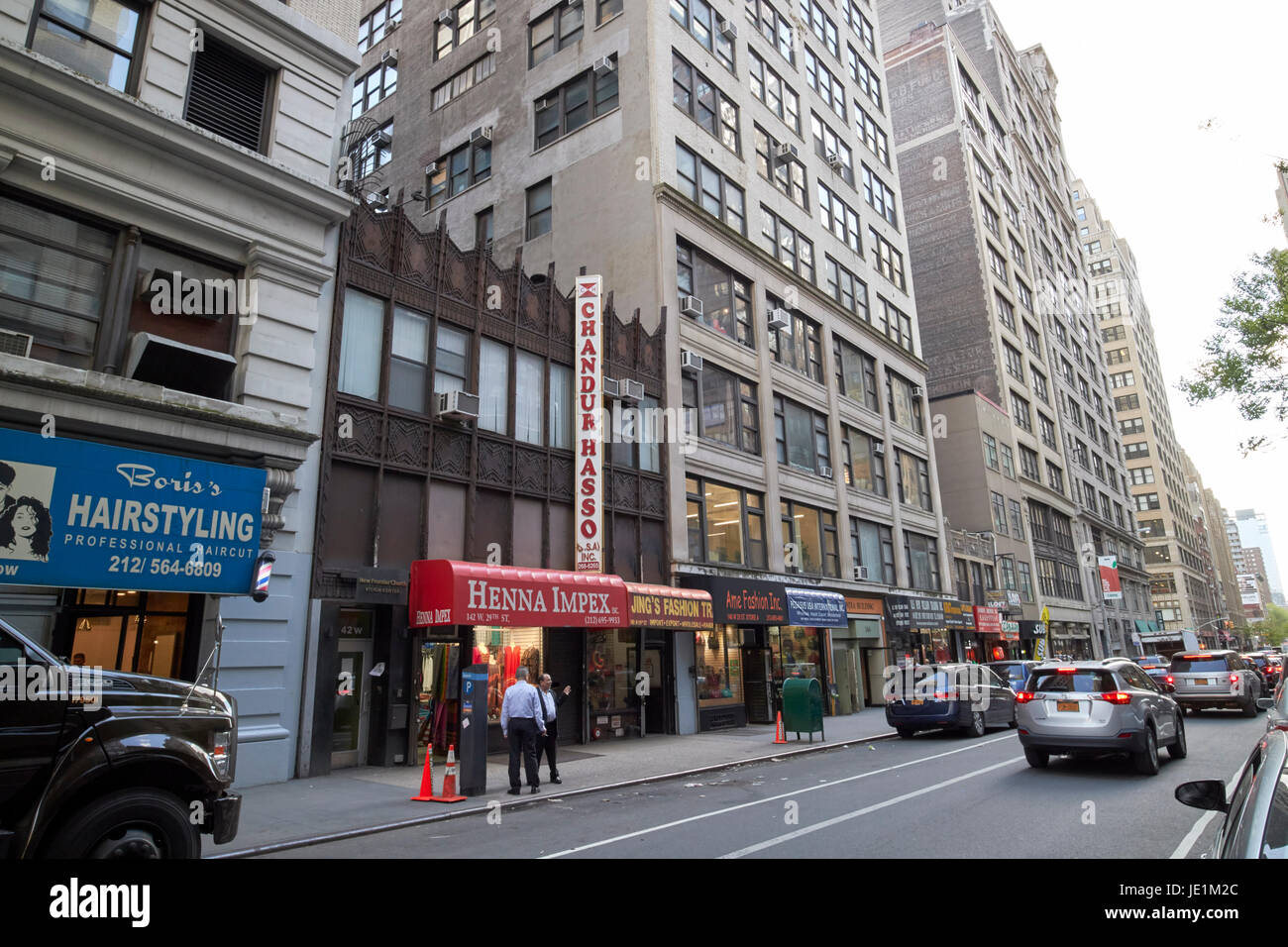 fashion import export wholesale businesses on west 29th street New York City USA - Stock Image