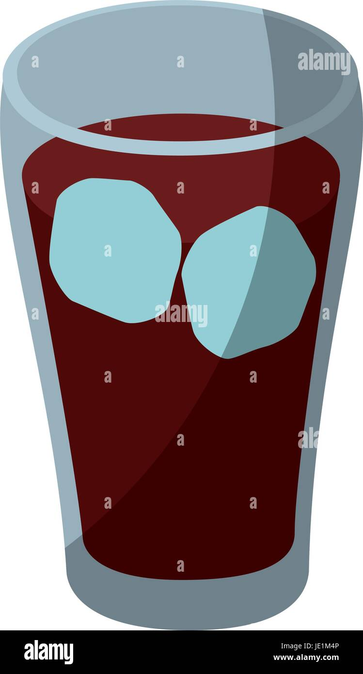isolated cold coke drink icon vector illustration graphic design - Stock Image