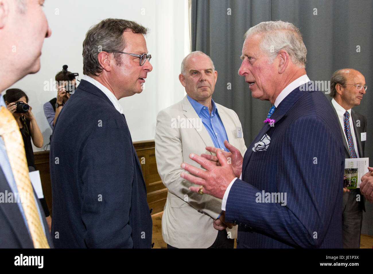 London, UK. 22 June 2017. The Prince of Wales talks to Hugh Fearnley-Whittingstall. Prince Charles, The Prince of - Stock Image