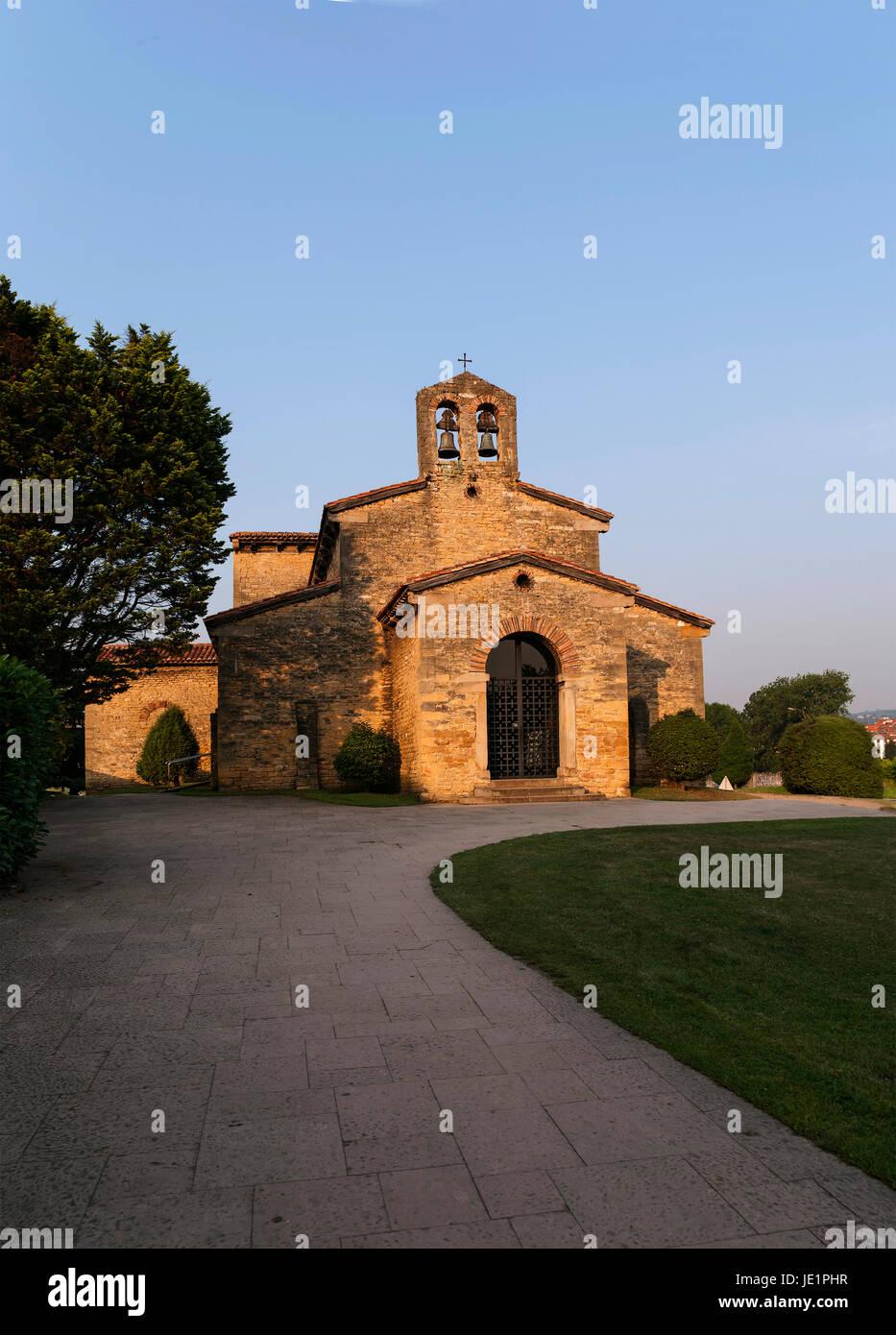 Santullano church Oviedo Asturias - Stock Image