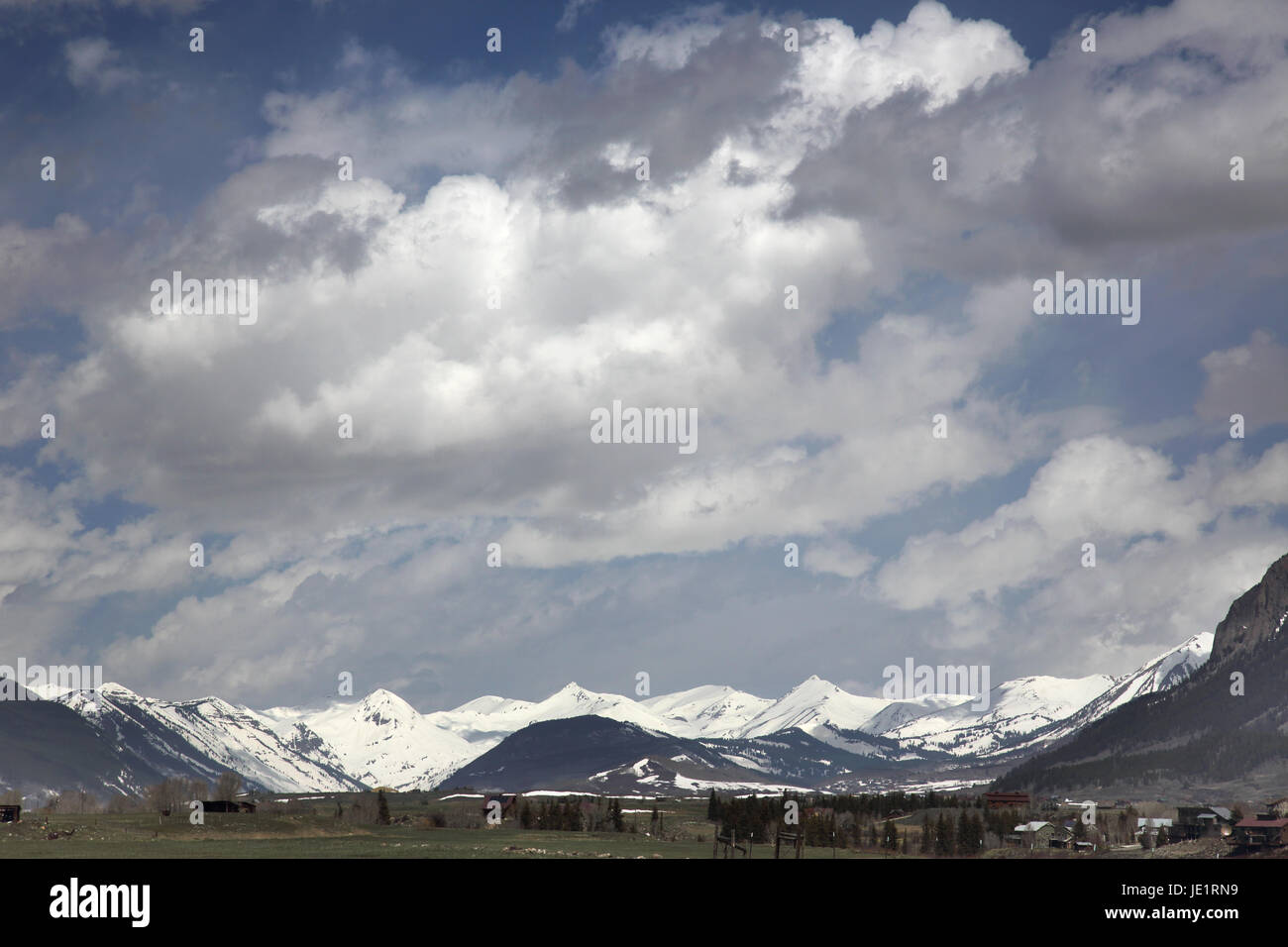 big sky over crested butte colorado - Stock Image
