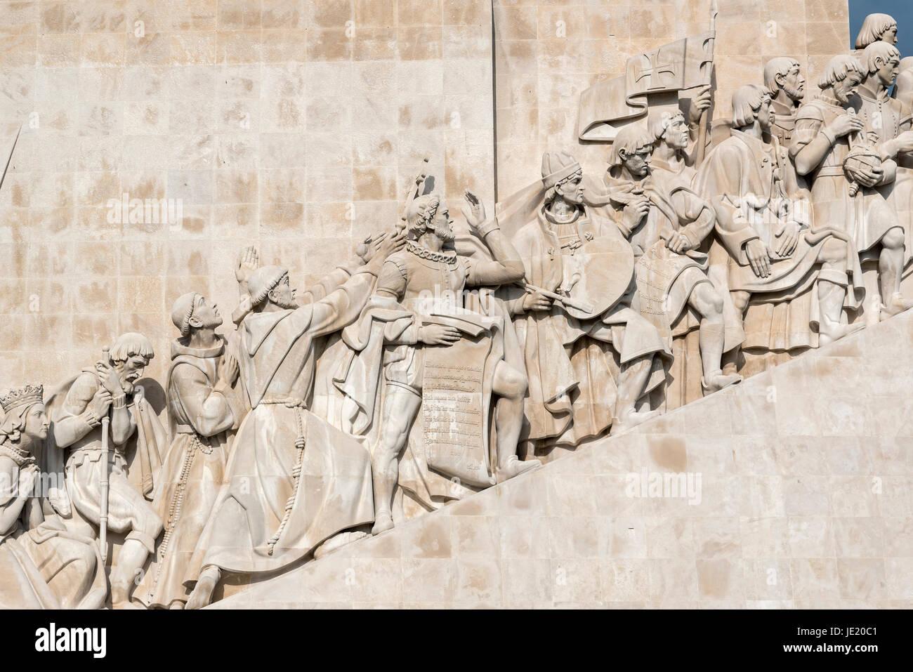 Monument to the Discoveries, Padrão dos Descobrimentos, Belém, Lisbon, Portugal - Stock Image