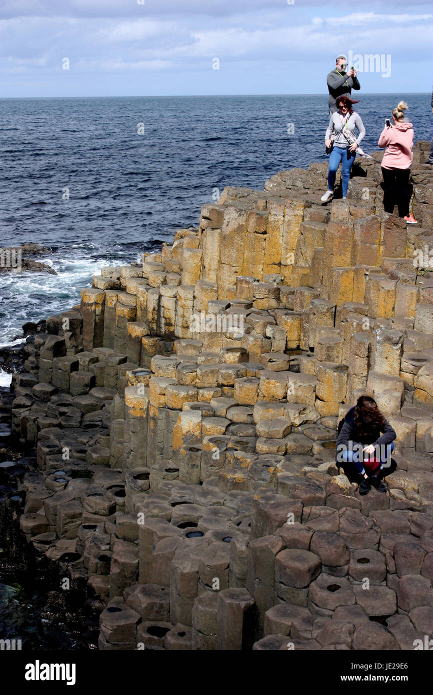 Giant's Causeway - People on the organ - Stock Image