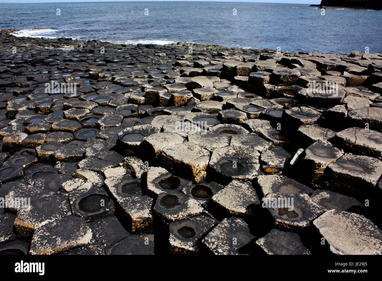 The Giant's Causeway. County Antrim - Stock Image