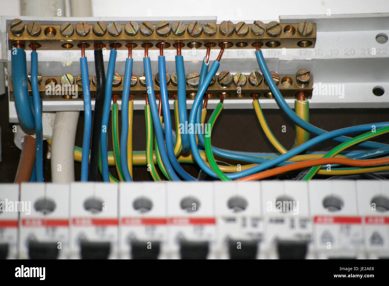 Switch Box Stock Photos Images Alamy How To Wire A Wires Of An Old Image