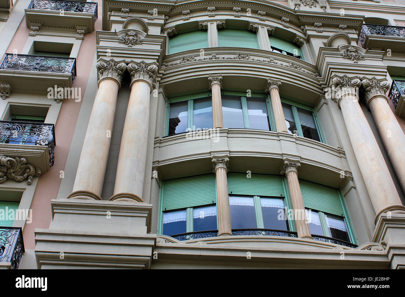 neoclassicism in barcelona - Stock Image