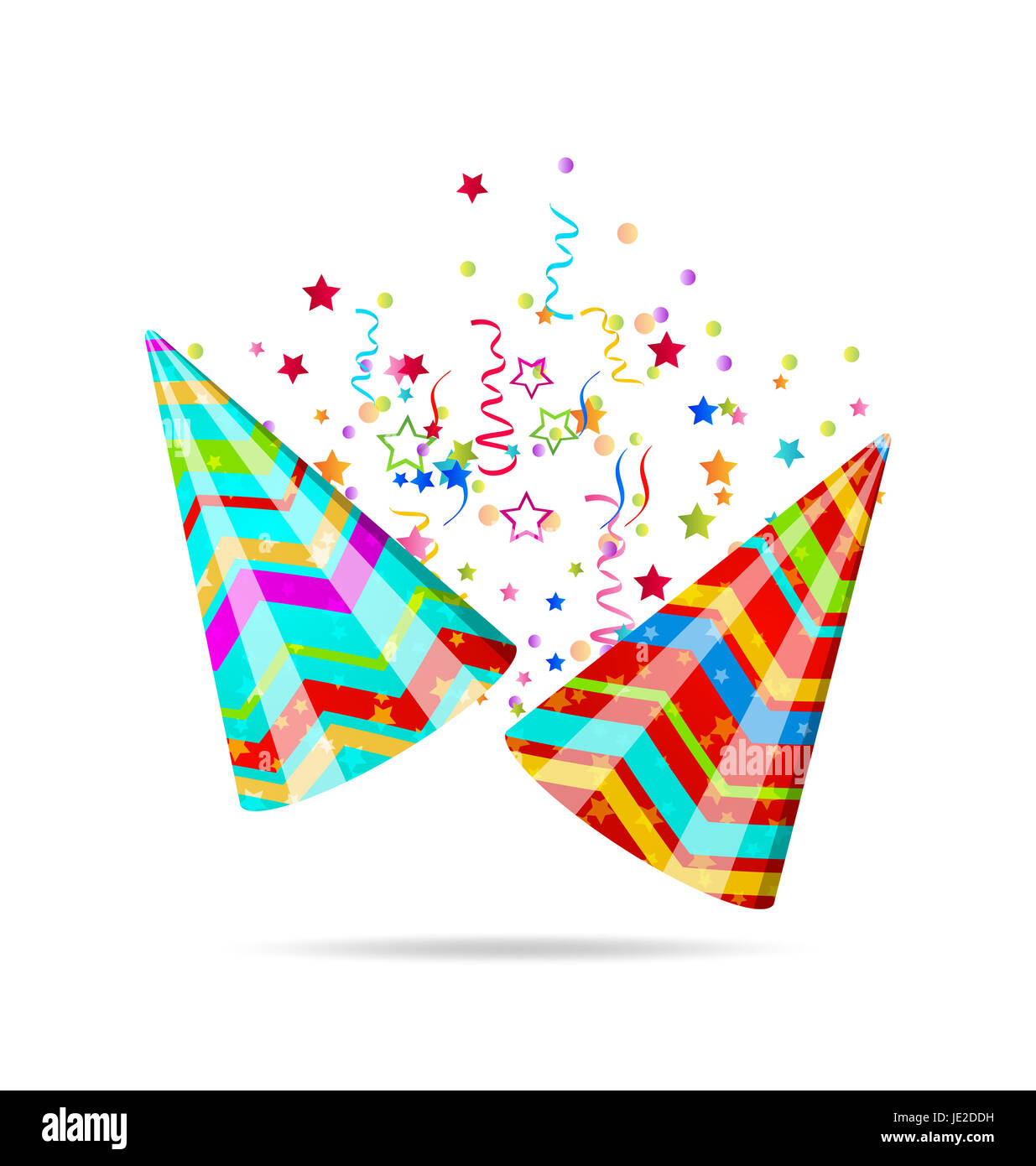 b4da64ff4 Illustration colorful party hats with confetti for your holiday ...