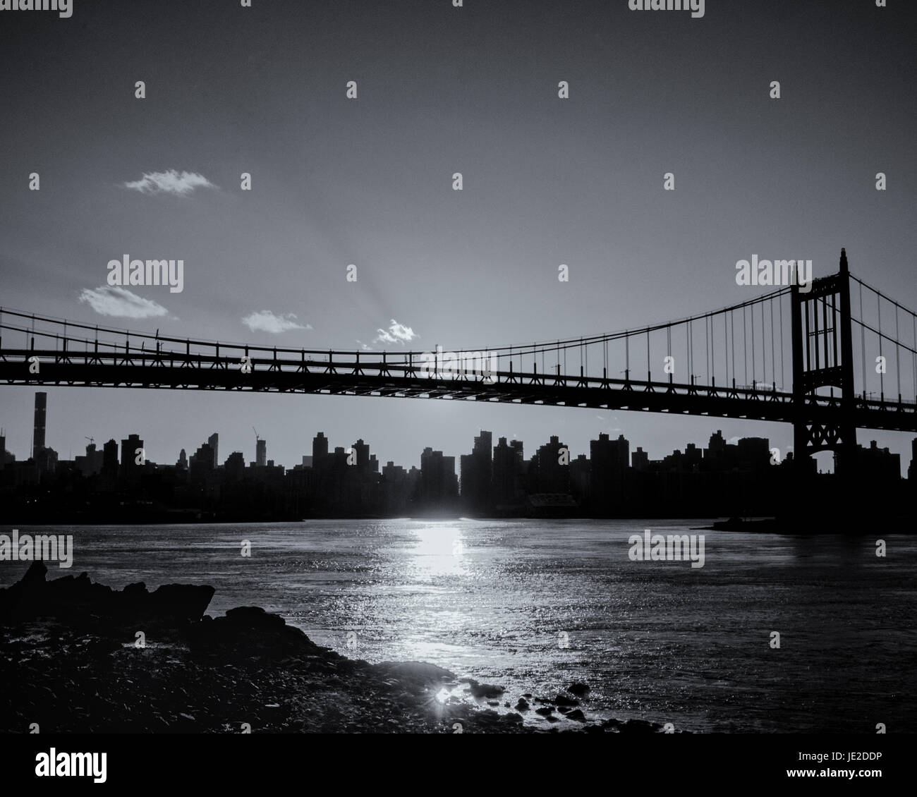NYC Midtown Skyline from Astoria, Queens, NYC, NY - Stock Image