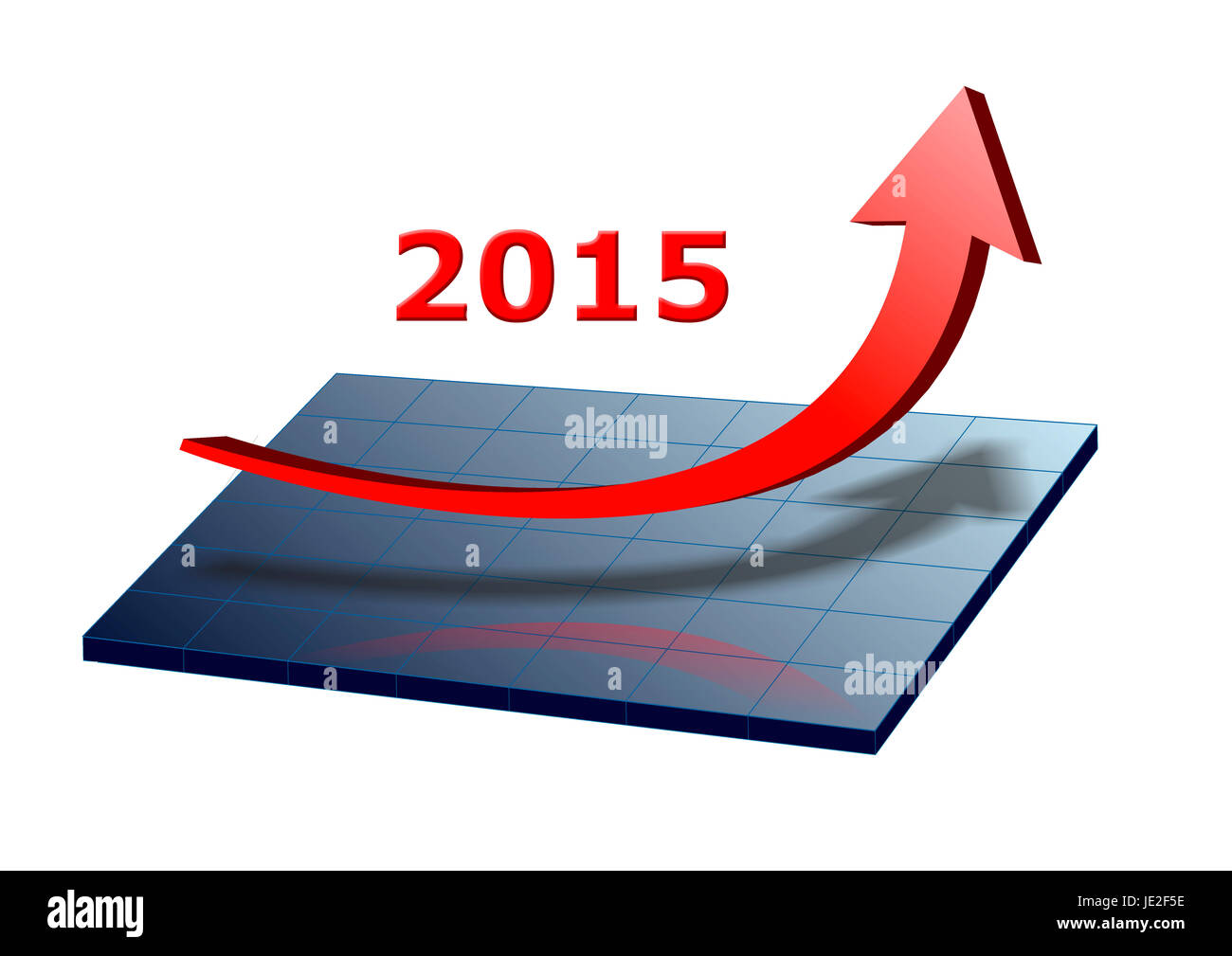 Neujahr 2015 mit Umsatzsteigerung - Stock Image